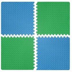Настилка релефна ЕVA 63х63х1.3 см, 2 бр сини, 2 бр зелени
