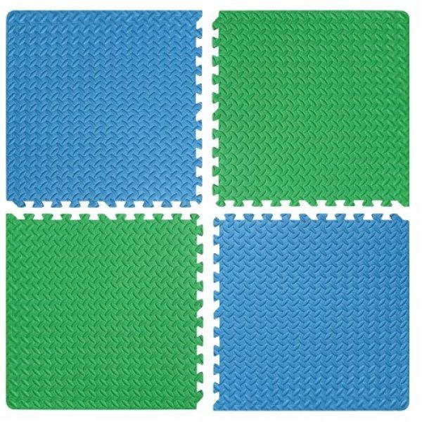 Настилка релефна ЕVA 63х63х1.3 см, 2 бр сини, 2 бр зелени30002611