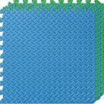 Настилка релефна ЕVA 63х63х1.3 см, 2 бр сини, 2 бр зелени300026112