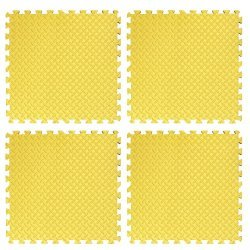 Настилка релефна ЕVA 61х61х1.3 см, 4 бр жълти