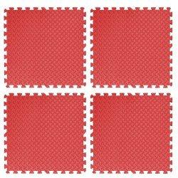 Настилка релефна ЕVA 61х61х1.3 см, 4 бр червени