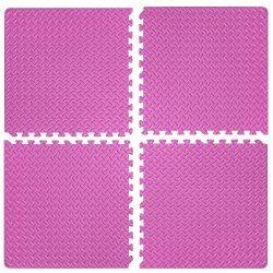 Настилка релефна ЕVA 63х63х1.3 см, 4 бр розови