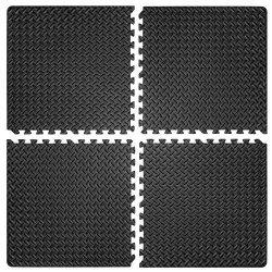 Настилка релефна ЕVA 63х63х1.3 см, 4 бр черни
