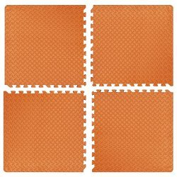 Настилка релефна ЕVA 63х63х1.3 см, 4 бр оранжеви