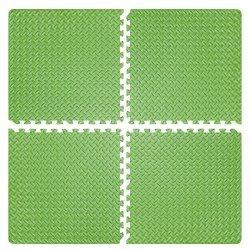 Настилка релефна ЕVA 63х63х1.3 см, 4 бр зелени
