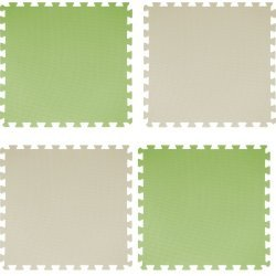 EVA Настилка 46.5х46.5х2 см, 4 броя, зелен и бежов цвят