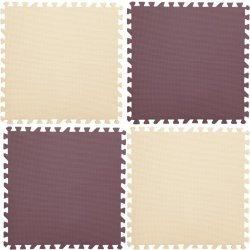EVA Настилка 46.5х46.5х2 см, 4 броя, кафяв и бежов цвят