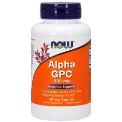 NOW Alpha GPC  60 капсули