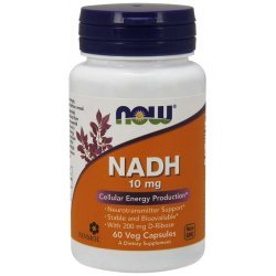 NOW NADH 10 мг + 200 мг RIBOSE 60 капсули