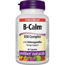 Webber Naturals B-CALM B50 Complex with Ashwagandha 60 капсули