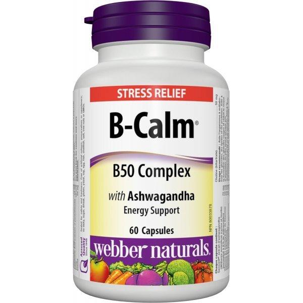 Webber Naturals B-CALM B50 Complex with Ashwagandha 60 капсули3161