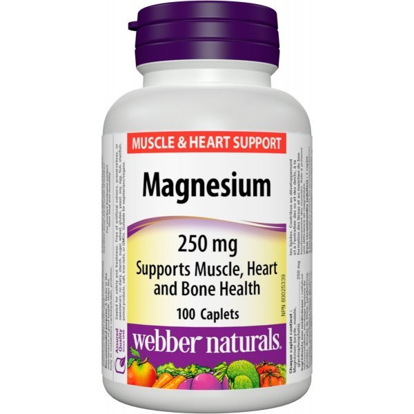 Webber Naturals Magnesium 250 мг 100 капсулиWN3163