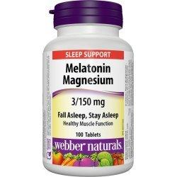 Webber Naturals Melatonin + Magnesium 3/150 мг 100 таблетки