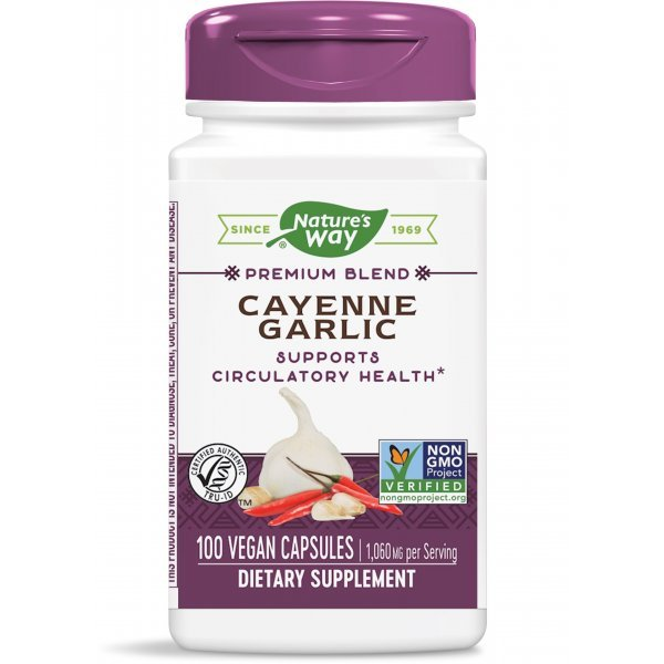Nature's Way Cayenne Garlic 530 мг 100 капсулиNW320