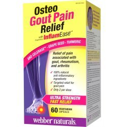 Webber Naturals Osteo Gout Pain Relief with InflamEase® 570 мг 60 капсули
