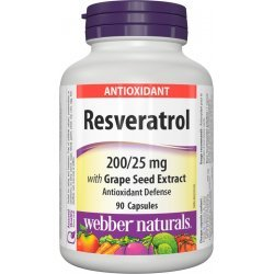 Webber Naturals Resveratrol with Grape Seed Extract 90 капсули