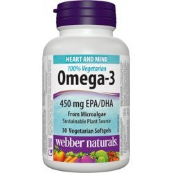 Webber Naturals Omega-3 From Microalgae 1000 мг 30 дражета