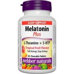 Webber Naturals Мelatonin Plus L-Theanine + 5-HTP 40 дъвчащи таблетки