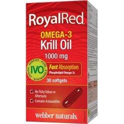 Webber Naturals RoyalRed® Omega-3 Krill Oil 1000 мг 30 дражета