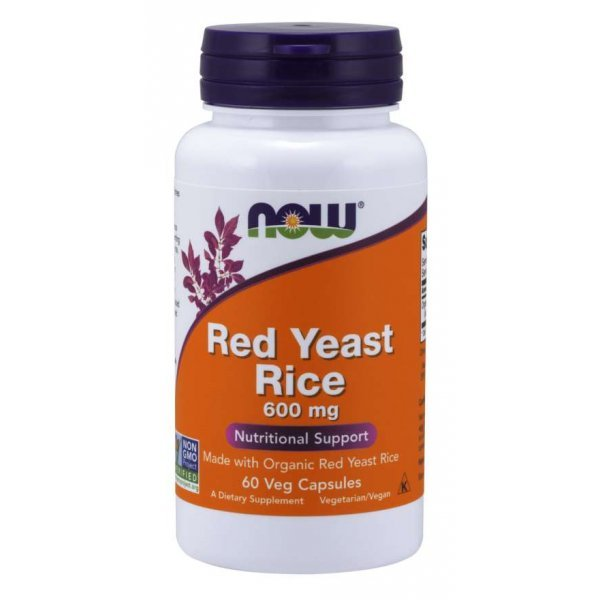 NOW Red Yeast Rice 600 мг 60 капсулиNOW0013