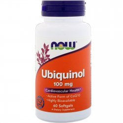 NOW Ubiquinol 100 мг 60 дражета
