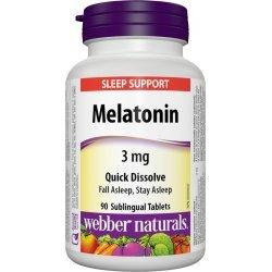 Webber Naturals Melatonin 3 мг 90 таблетки