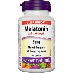 Webber Naturals Melatonin 5 мг 60 таблетки