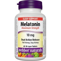 Webber Naturals Melatonin Maximum Strenght 10 мг 60 таблетки