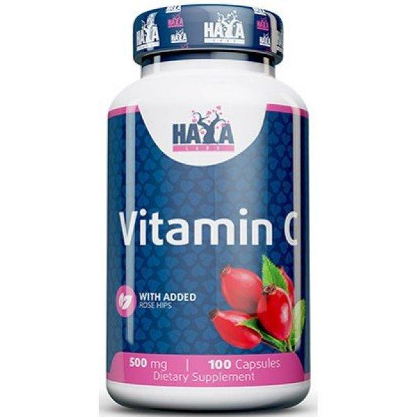 Haya Vitamin C 500 mg with Rose Hips 100 капсулиHaya Vitamin C 500 mg with Rose Hips 100 капсули