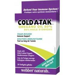 Webber Naturals Cold-A-Tak® Oregano Oil 180 мг 30 дражета