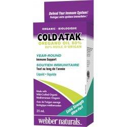 Webber Naturals Cold-A-Tak® Oregano Oil Organic 30 мг 25 мл