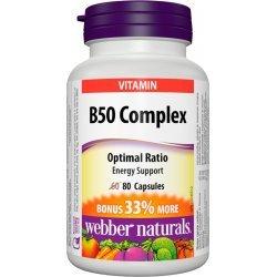Webber Naturals B50 Complex 80 капсули