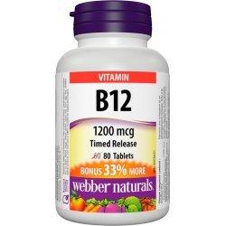 Webber Naturals Vitamin B12 1200 мкг 80 таблетки