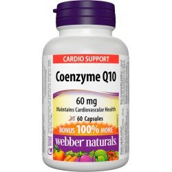 Webber Naturals Coenzyme Q10 60 мг 60 капсули