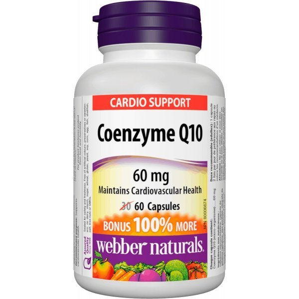 Webber Naturals Coenzyme Q10 60 мг 60 капсулиWN3854