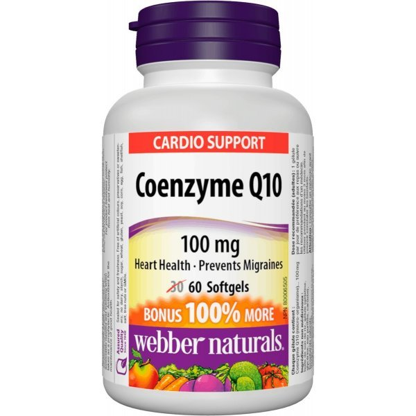 Webber Naturals Coenzyme Q10 100 мг 60 дражетаWN3855