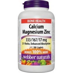 Webber Naturals Calcium Magnesium Zinc 516 мг 200 каплети