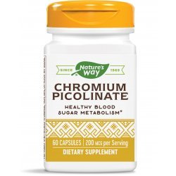 Nature's Way Chromium Picolinate 200 мкг 60 капсули