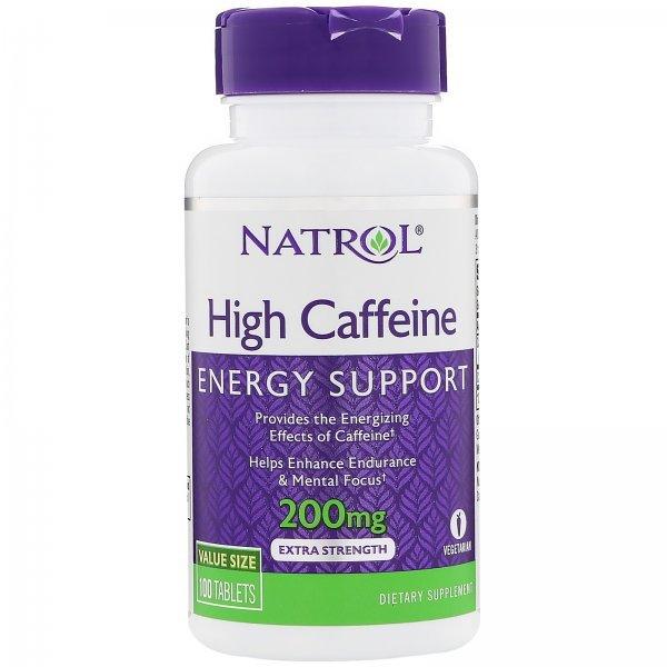 Natrol High Caffeine 200 мг 100 таблеткиNAT402
