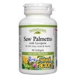 Natural Factors Сао Палмето + Ликопен 442 мг 90 софтгел капсули