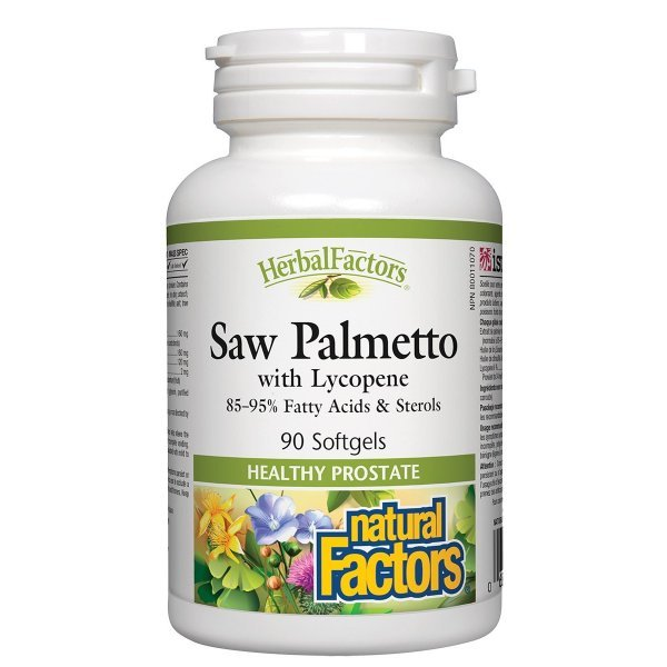 Natural Factors Сао Палмето + Ликопен 442 мг 90 софтгел капсули4552