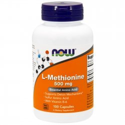 NOW Methionine 500 мг 100 капсули