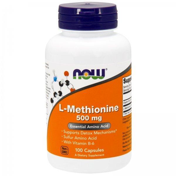 NOW Methionine 500 мг 100 капсулиNOW117