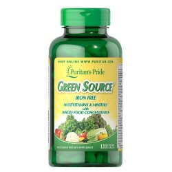 Puritan's Pride Green Source Multivitamin & Minerals 120 таблетки