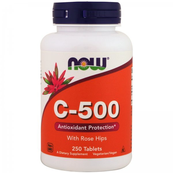 NOW Vitamin C-500 RH 250 таблеткиNOW Vitamin C-500 RH 250 таблетки