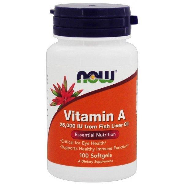 NOW Vitamin A 25000 IU 100 дражетаNOW Vitamin A 25000 IU 100 дражета