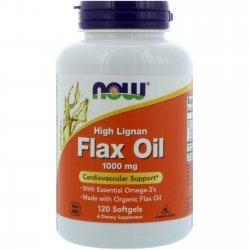 NOW Flax Oil (High Lignan) 1000 мг 120 дражета