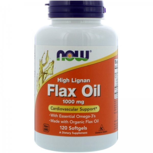 NOW Flax Oil (High Lignan) 1000 мг 120 дражета  NOW1780