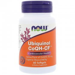 NOW Ubiquinol CoQH-CF 60 дражета