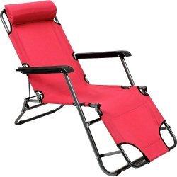 Сгъваем стол, шезлонг, походно легло 3 в 1 с дължина 178 см